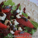 Strawberry Beet Salad with Goat Cheese and Balsamic Vinaigrette0