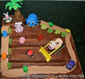 Gluten-Free Dye-Free Jungle Junction Birthday Cake0
