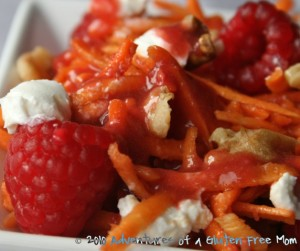Shredded Beet Salad with Fresh Raspberry Vinaigrette4