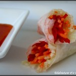 A New Twist on the Plain Ole Lunchbox Sandwich: Spring Rolls (and Vegan Pumpkin Dip)