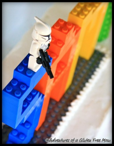 Have you ever tried to make a Lego birthday cake without gluten, dairy,