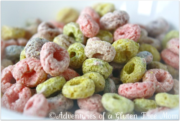 "Gluten, Allergen and Dye Free ""Fruit Loops"" Cereal"