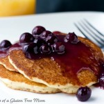 Gluten Free Pancakes with Blueberry Syrup