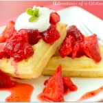 Gluten Free Strawberry Shortcake Waffles
